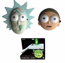Rick & Morty Mask & Portal Gun Light Up Adult Halloween Cosplay Costume Set