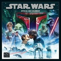 Star Wars 2021 Official Square Wall Calendar - New & Sealed