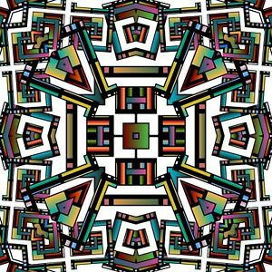 Geometric colourful Tile Stickers for 6x6 Inches 4x4 and 3x3 tiles ma4