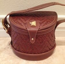 BARRY KIESELSTEIN-CORD Woven Leather Labrador Golden Retreiver Dog Handbag Purse