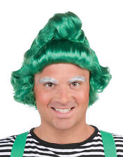 """DELUXE GREEN ELF WIG SANTA""""S ELF CHRISTMAS HOLIDAY ADULT COSTUME ACCESSORY"""