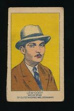 1920's W-Uncataloged Actor Strip Cards (3 lines text) -LEW CODY (Movie Star)