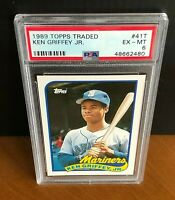 1989 Topps Traded #41T Ken Griffey Jr Seattle Mariners PSA 6 EX-MT Rookie RC
