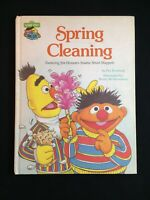 Vintage 1980 Spring Cleaning Sesame Street Children's Book