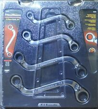 "Danaher 85399 S-Shape SAE Reversible Double Box Ratcheting Wrench 4Pc 3/8""-7/8"