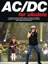 AC/DC Ukulele Sheet Music ~ Uke TAB ~ Back in Black, Hells Bells, TNT, More