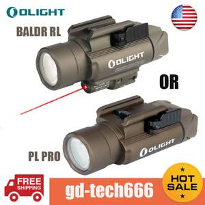 Olight PL-Pro / Baldr RL Weaponlight Desert Tan LED Tactical Flashlight Pistol
