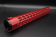 Red 15'' LR308 Ultralight Keymod Handguard Free Float Rail Mount System
