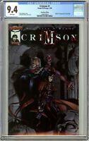 Crimson #1 CGC 9.4 White Pages (1998) 1286078019 Chromium Edition