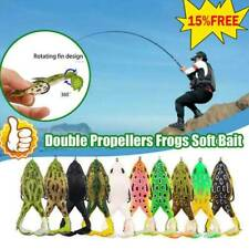Double Propellers Frogs Soft Bait Soft Silicone Fishing Lures BEST
