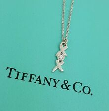 Tiffany & Co. Paloma Picasso Love & Kisses XOX 18k White Gold Diamond Necklace