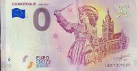 BILLET 0  EURO DUNKERQUE JEAN BART FRANCE  2018  NUMERO 1000