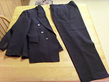 MENS TURKISH ALPHAN GRAY WOOL 2 PIECE DOUBLE BREASTED SUIT,40R?,MADE IN TURKEY