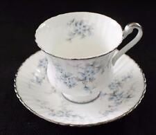 Vintage PARAGON Bone China Blue BRIDES CHOICE Pattern Set Footed Cup & Saucer