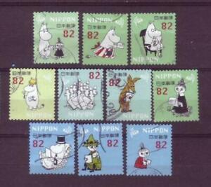 ˳˳ ҉ ˳˳G185 Japan Greeting Moomin ¥82 2018 used complete set 日本