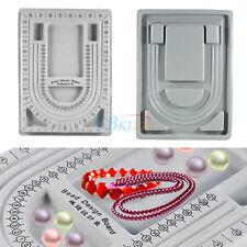 Flocked Bead Board Beading Design Tray Jewellery Necklace Holder DIY Craft Tool