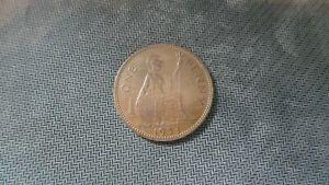 Elizabeth II One Penny 1d 1953.Key Date Scarce.COIN HIGH GRADE.Y.138