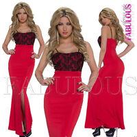 Sleeveless Maxi Dress Front Split Slit Party Occasion Christmas Size 8 10 S / M