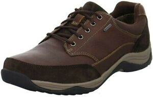 Clarks Mens Casual Plus* Shoes BAYSTONE GO GTX Mahogany Leather UK 9 WIDE FIT
