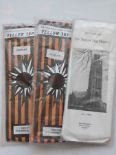 3 Pairs Yellow Top Hosiery Chocolate nylon tights. Hips 42-48""