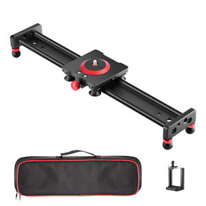 Neewer Camera Slider Aluminum Alloy Dolly Rail,16 inches with 4 Bearings