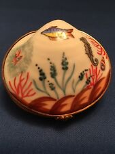 Vintage France Limoges Hand Painted Sea Shell A illusion Of Under Sea