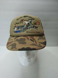 Vintage Ducks Unlimited Hat Hunting Frat Navasota Texas With Lapel Pin