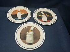 "William Sonoma ""Sommelier"" Set/3 Appetizer Plates  UNIQUE Designs by Guy Buffet"
