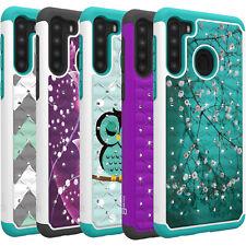 CoverON Aurora For Samsung Galaxy A21 Bling Hybrid Hard Diamond Phone Cover Case