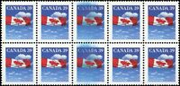 Canada 10 Mint NH 1989 VF 39c Scott #1166 Stamps with INK SMEAR on 2