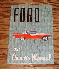 1957 Ford Full Size Car Owners Operators Manual 57 Fairlane