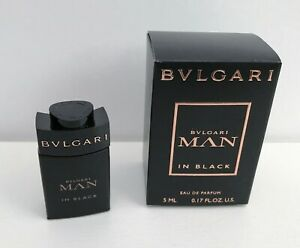 Bvlgari Man In Black Eau de Parfum mini Perfume for men, 5ml, Brand New in Box