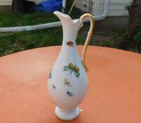 Vintage Lenwile Ardalt Fine China Vase Pitcher 7988 Butterflies & Beetles