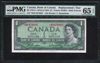 1954 Bank Of Canada 1$ Replacement *B/M (No FPN) PMG GEM UNC65 EPQ BC-37bA-i