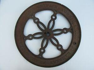 "Antique Cast Iron Landers Frary & Clark, New Britain Coffee Wheel Grinder (17"")"