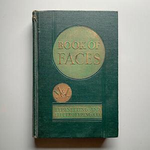 "1930s M & L ""Book of Faces"" Type Specimen Catalog - Fonts Typography Letterpress"