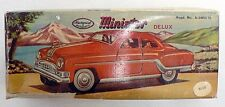 VINTAGE MINISTER DELUX TIN FRICTION CAR IN ORIGINAL BOX