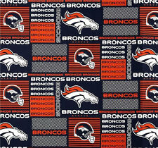 "NFL Denver Broncos 6422D 100% Cotton 60"" Fabric by the yard"