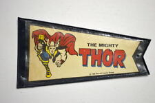 "MIGHTY THOR MARVEL PENNANT w ORIGINAL HOLDER 3""x5 1/8"" Marvelmania 1966 RARE"