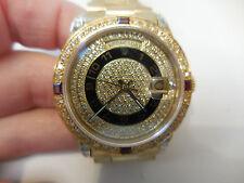 Rolex 18K Gold President Pave diamond dial, Ruby bezel, diamond lugs 36MM 3055