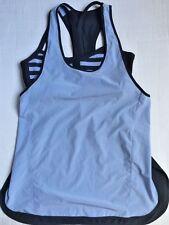 LULULEMON Pump It Up Tank Top Singlet & Stripe Bra Polar Haze & Black size 6 EUC