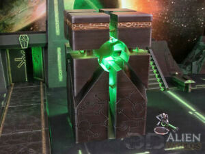 CC3D - Runic/ Necron Energy Monolith - Wargames Miniatures Scenery 40k 28mm 15mm