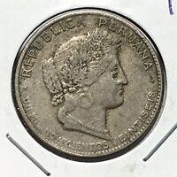 1926 Peru 20 Centavos Coin