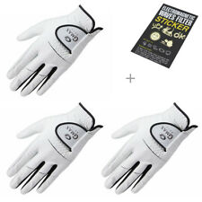 Gmax Men's Golf Gloves Genuine Leather Left (right handed player) size L(25) x 3