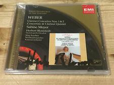 Signed HERBERT BLOMSTEDT Weber Clarinet Concertos Sabine Meyer EMI CD Signiert