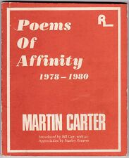 Poems of Affinity 1978-1980 by Martin Carter - 1980 - First Edition - Guyana