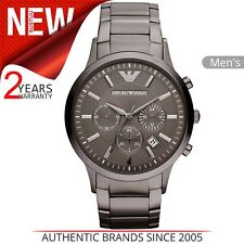 Emporio Armani Classic Men's Watch│Chronograph Dial│Gunmetal Bracelet Band│2454