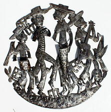 Musicians Metal 3d Sculpture Caribbean Decor Steel Art Metal Wall Artwork, 24""
