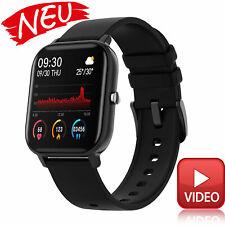 Dorado Bluetooth reloj pulsera móvil ios iPhone Android-negro