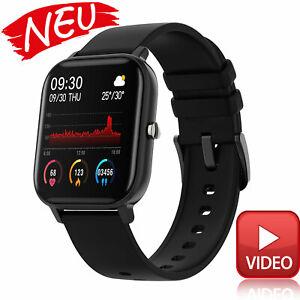 Smartwatch Bluetooth Armband Uhr Handy iOS iPhone Android - schwarz